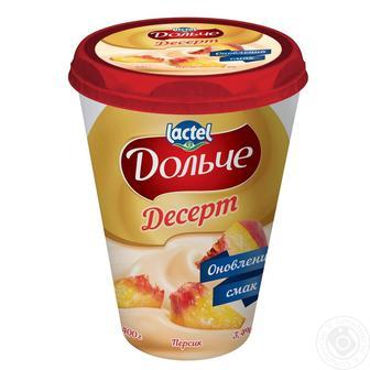 Десерт сирковий Дольче 3,4% персик 400г