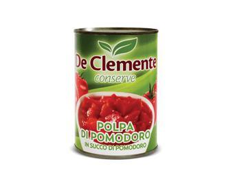Томати De Clemente очищені в томатному соку різані, 400г