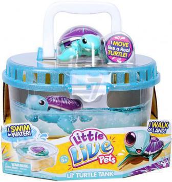 Іграшка інтерактивна Little Live Pets Черепашка з акваріумом 28182