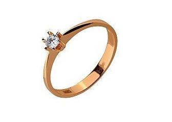 Золотое кольцо с фианитом Артикул 01-17528381