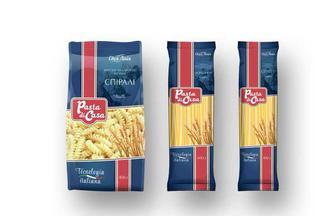 Макаронні вироби Pasta di Casa Спагеті/ Локшина довга/Спіраль Своя Лінія 400 г