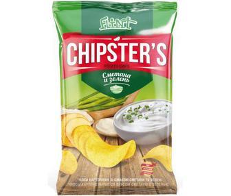 Чипсы Chipsters натуральные со вкусом сметаны и зелени 70 г