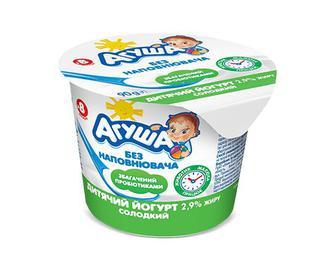 Йогурт дитячий «Агуша» солодкий 2,9% жиру, 90г