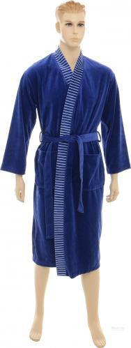 Халат домашній La Nuit р. XL синій Home Stripe