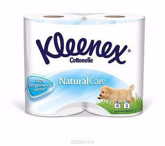 Туалетний папір Kleenex Cottonelle Natural Care 4шт