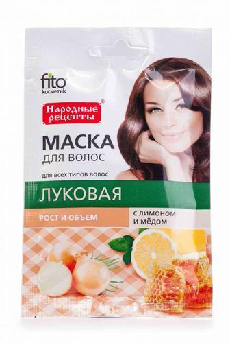 Маска для волос Fitoкосметик с лимоном и медом Луковая, 30 мл