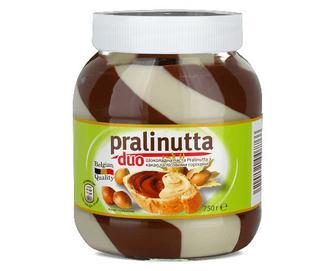 Паста Pralinutta Duo, шоколадна з молочним какао і лісовим горіхом, 750г