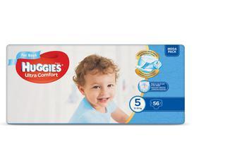Підгузки Huggies Ultra Comfort для хлопчиків 5 (12-22 кг) 56шт./уп