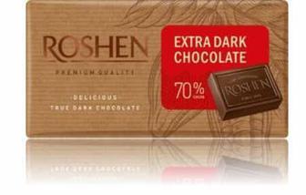 Шоколад Roshen екстрачорний 70% 90г