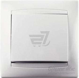 Кнопка автоматичного дверного замка Erste Prestige без підсвітки 10 А 250В білий 9206-00,W