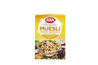 Мюслі «Crispy Granola» фрукти та горіхи AXA 250 г