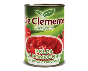 Томати De Clemente різані очищені в томатному соку, 400г