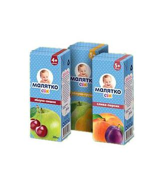 Сік Малятко Яблуко-виноград 200 мл