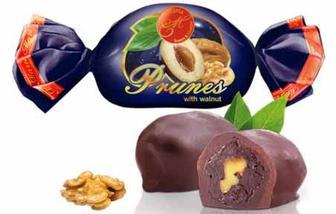 Скидка 20% ▷ Цукерки Чорнослив в шоколаді з горіхом , Марія