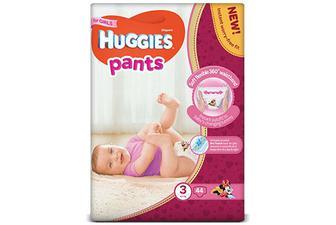 Підгузки-трусики Huggies Pants для дівчаток 3 (6-11 кг) 44 шт