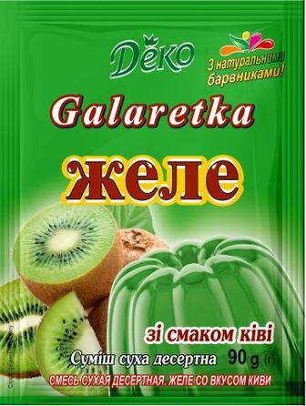 Желе зі смаком  ківі/апельсина Деко 80г