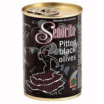 Скидка 18% ▷ Маслини Senorita чорні з кісточкою 420г