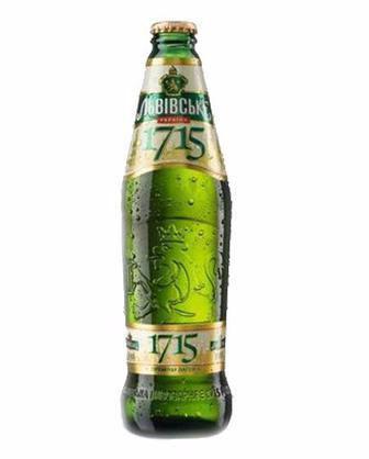 Пиво світле 1715 Львівське 0,45л
