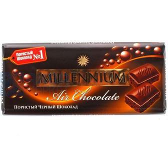 Шоколад Миллениум пористий чорний 90г