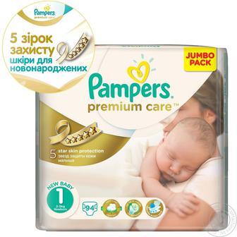 Підгузки Pampers Premium Care розмір (1 — 22 шт., 2 — 80 шт., 3 — 60 шт., 4 — 52 шт., 5 — 44 шт)