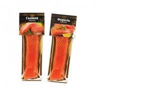 Семга/Форель слабосоленая филе кусок на коже, 180 г, ЩЕ-Б-ПАК