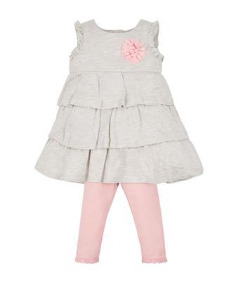 Сіра сукня та легінси від Mothercare