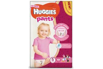 Підгузки-трусики Huggies Pants для дівчаток 5 (12-17 кг) 44 шт./уп.