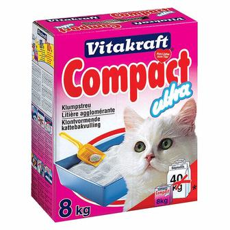Vitakraft (Витакрафт) Compact Ultra. Комкующийся наполнитель для кошачьего туалета, 4 кг