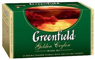 Чай Greenfield чёрный Golden Ceylon 25 пакетиков