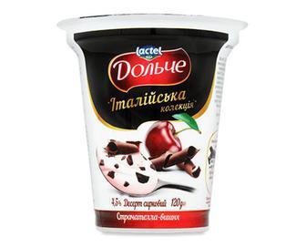 Десерт сирковий Дольче з наповнювачем вишня, 4,5% жиру, 120г