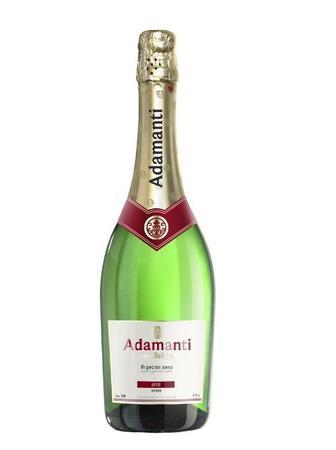 Вино игристое Адаманти Брют, белое п/сл., 13% 0,75 л,