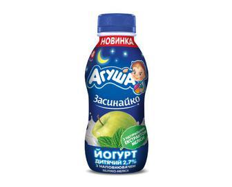 Йогурт дитячий «Агуша» 2,7% жиру яблуко-меліса, 200 г