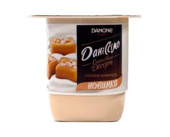 Десерт сирковий «Даніссімо» 3,2% жиру «Солона карамель» 125г