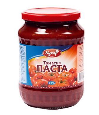 Томатна паста Щедрий Кухар 25% 500г