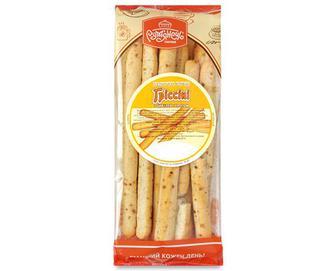 Палички хлібні «Рум'янець» «Гріссіні» з цибулею і кропом, 200г