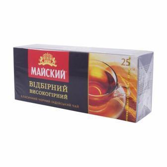 Чай чорний Відбірний Високогірний Майський 25пак