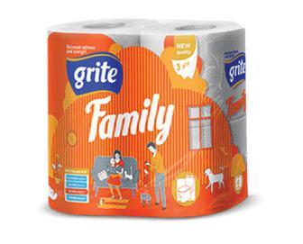 Папір туалетний Grite Family, 4 рулони/уп