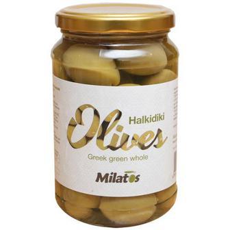 Оливки Milatos зелені з кісточкою 350г