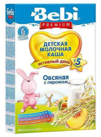 Каша Kolinska Bebi Premium молочная овсяная с персиком с 5 месяцев 250 г