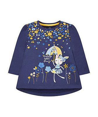 Синя футболка з квітами від Mothercare