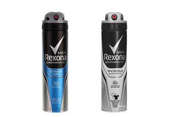 Дезодорант Men Cobalt Dry/ Невидимий на чорному та білому антиперспірант аерозоль Rexona 150 мл