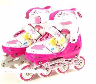 Ролики M(35-38) Disney Fairies (метал. рама, клипса, шнурок, свет 1 колеса PU) RS0102