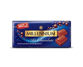 Шоколад Millennium Premium пористий молочний, 90г