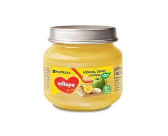 Пюре Milupa фруктове Яблуко і Банан від 6 міс. 100 гр