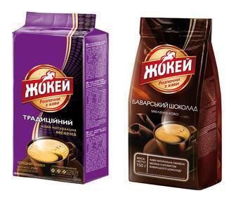 Кава мелена Баварський Шоколад Жокей 225г