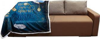 """Плед Аліса """"Смішні годинники"""" 160x200 см синій Gapchinska"""