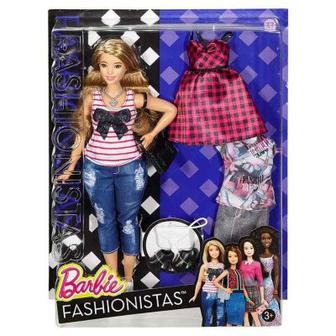 Кукла в джинсах и майке с набором одежды Barbie Модница (DTD96 / DTF00)