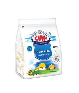 Сир Домашній 0% або 5% Білоцерківський 400г