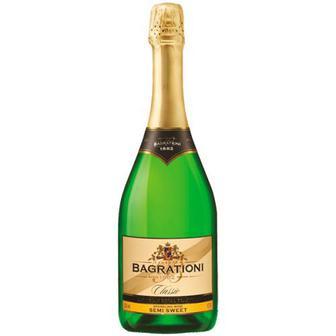 Вино ігристе Багратиони біле напівсолодке класичне 0,75л