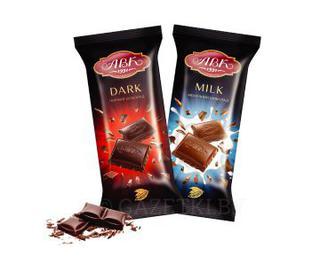Шоколад чорний 57% какао, молочний, 90г, АВК